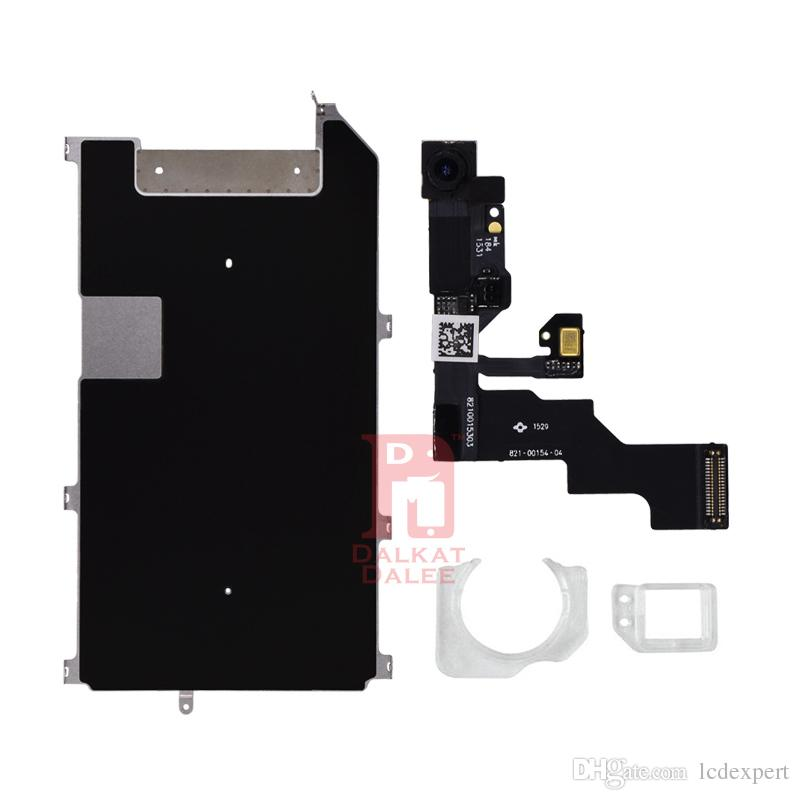 For iphone 6s Plus Full lcd parts Metal Bracket Home Button Flex Front Camera Earpiece Screws Display Touch Screen Digitizer Small Parts Set