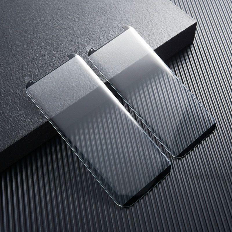 サムスンギャラクシーのためのケースフレンドリーな強化ガラス3D注8注9 S9 Plus S8 Plus S7エッジ100ピース/ロットの小売パッケージ