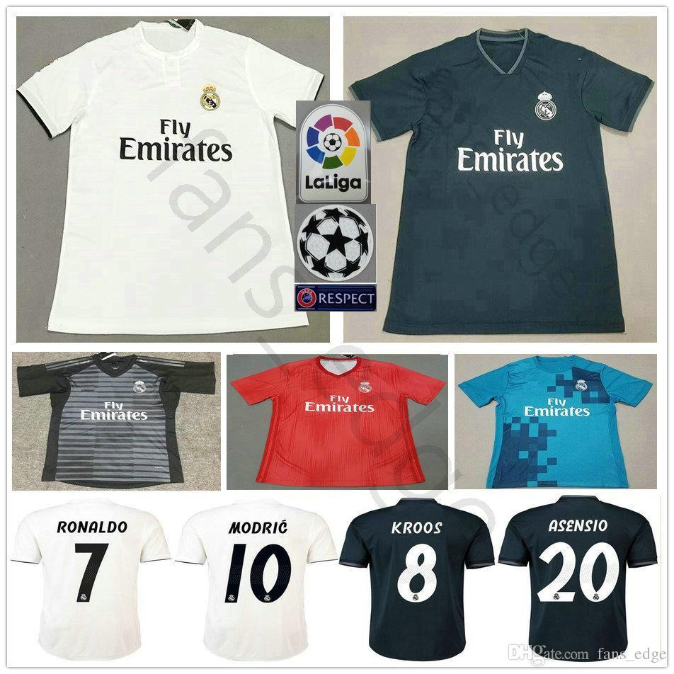 3427b450a 2019 2018 2019 Real Madrid Soccer Jersey 10 MODRIC RONALDO BALE ISCO  ASENSIO KROOS RAMOS VARANE MARCELO Custom Home Away 18 19 Football Shirt  From Chen shop ...