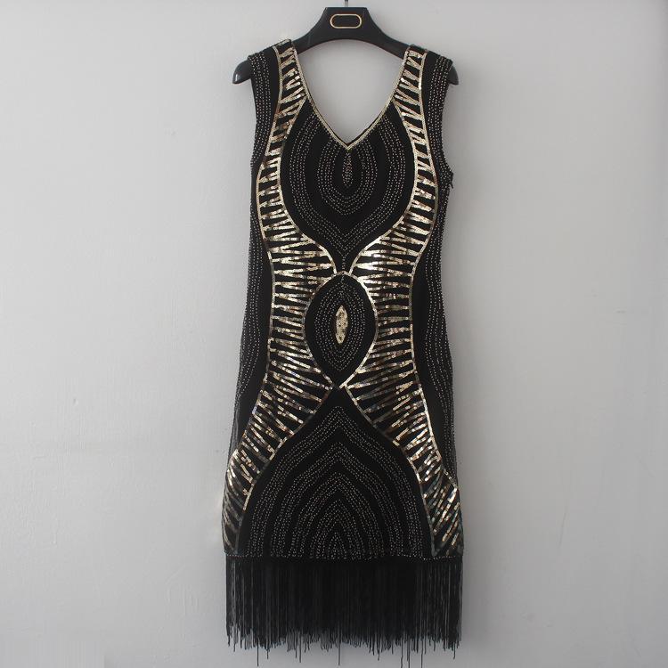 Großhandel Neue Europäische Und Amerikanische Quaste Nähen Kleid ...