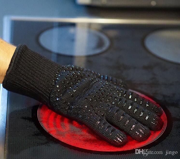 قفازات سيليكون للشواء معزول مقاومة للحرارة قفاز الفرن وعاء حامل شواء الخبز الطبخ n2 قفازات خمسة أصابع مكافحة زلة تباع بواسطة جهاز كمبيوتر شخصى