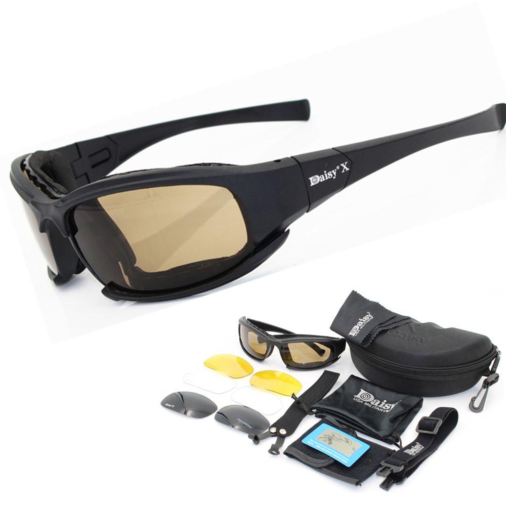 32835e08e55e Daisy X7 Motorcycle Glasses Military Goggles Bullet Proof Polarized  Sunglasses Hunting Shooting Airsoft Eyewear C5 C6 Best Sunglasses For Men  Vuarnet ...