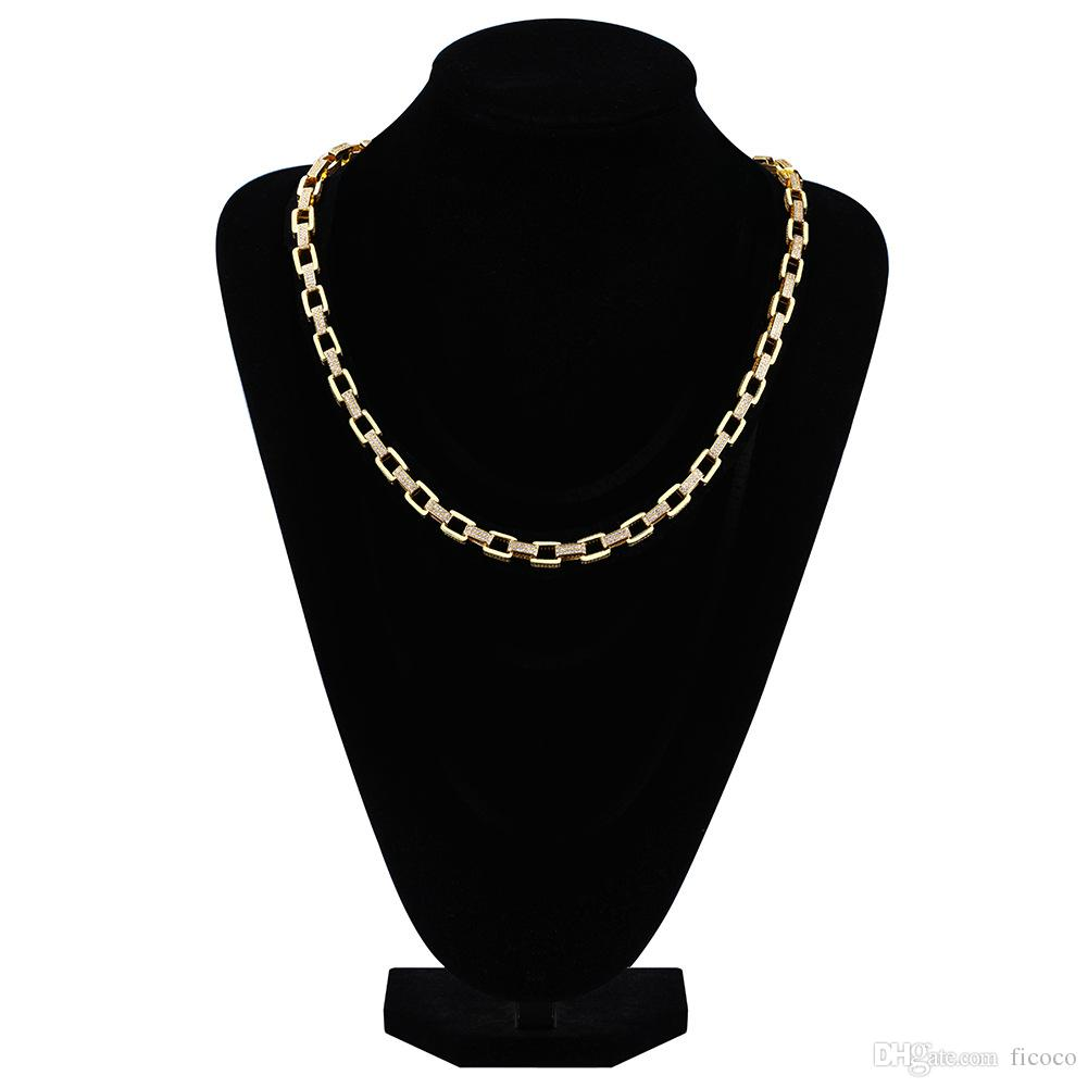 Wholesale Luxury 20inch Box Links Hip Hop Jewelry Designer Jewelry
