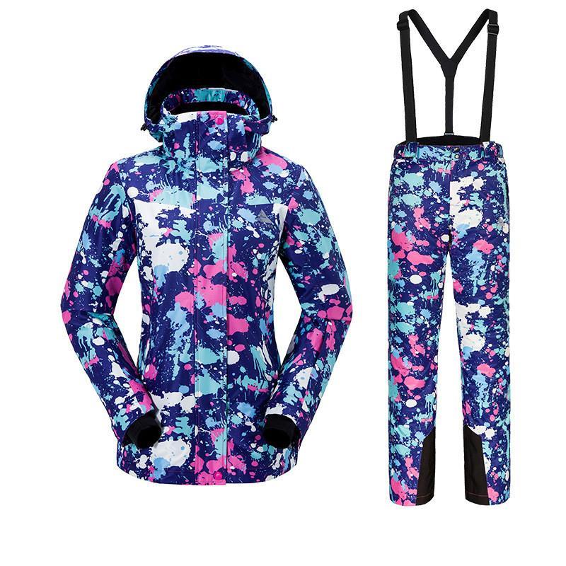 Women Ski Suits Suspender Outdoor Sports Warm Windproof Waterproof Breathable Skisport & Snowboarding