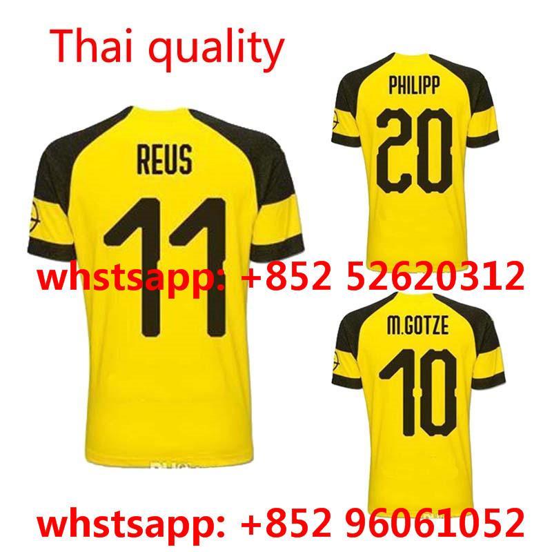 Compre 2018 2019 Dortmundes Em Casa Longe De Camisa 18 19 Camisetas Camisa  Survetement World Cup Man De Misoway 45b148cc8fbef