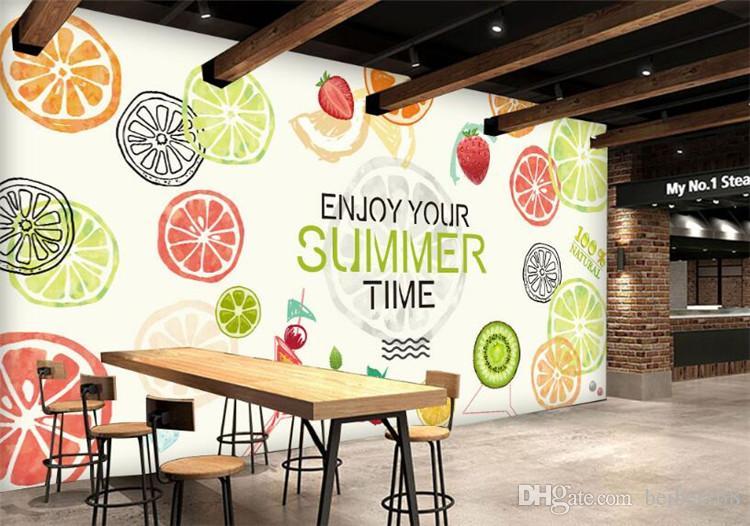 Пользовательские фото обои большая фреска фреска фрукты обои 3D детская комната диван телевизор обратно стереоскопический ресторан обои