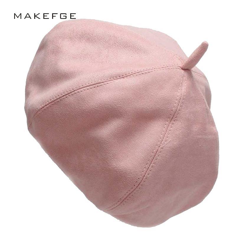 40727ab50d175c 2019 In Imitation Suede Newsboy Cap Beret Female Male Flat Cap Autumn  Winter Hats For Women Men Octagonal Painter Hat Vintage From Zaonoodle, ...