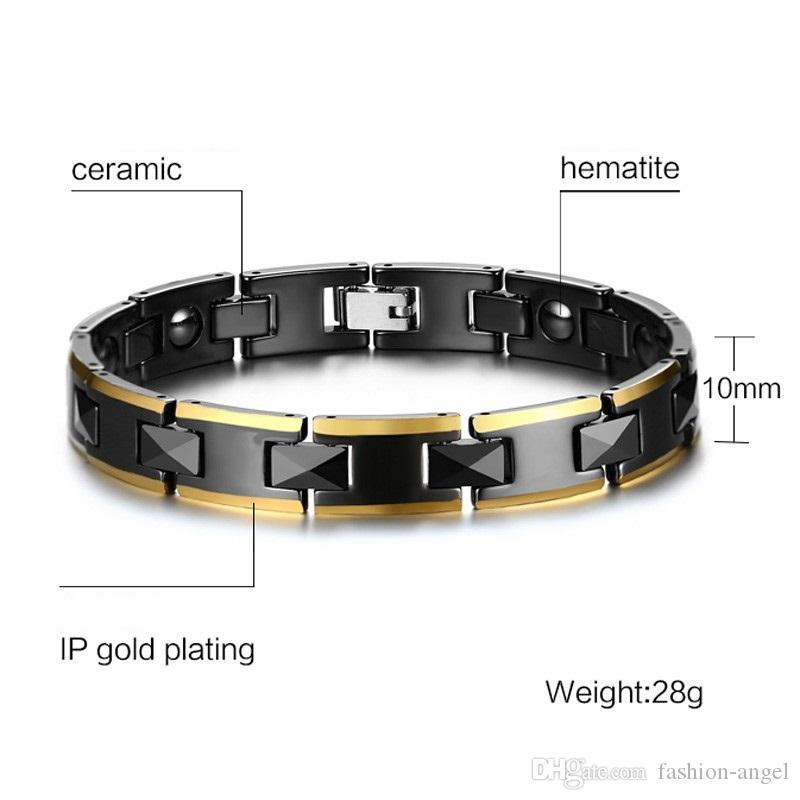 Valentine's day gift top quality 10mm ceramic hematite magnet bracelets magnetic bracelet fashion jewelry source factory supplier 016