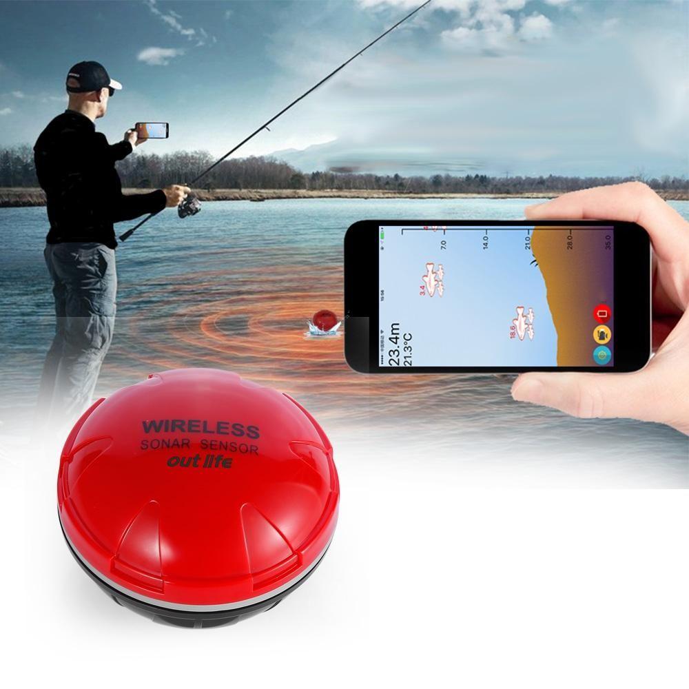 Outlife Portable Wireless Sonar Fish Finder Fishing Sounder Sensor ...