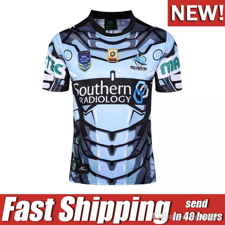 2017 NRL JERSEYS Cronulla Sharks Jersey Rugby League Cronulla Sharks ... b8b20efa36653