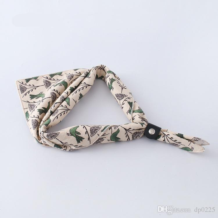 2018 new spot unisex trends cotton printing decorative scarf business suit fashion scarf