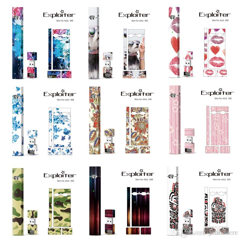 200 Designs ! Wraps For Juul Kits Customized Paper Cover Sticker Electronic Cigarette Skin With Logo For Juul USB Skin