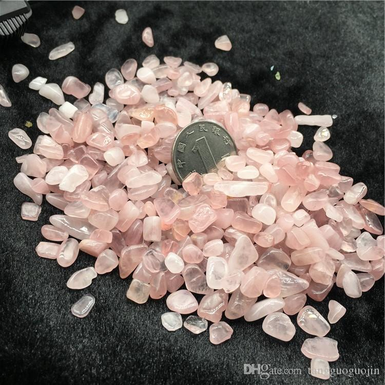 50g Pink Rose Quartz Irregular Tumbled Stones Gravel Crystal Healing Reiki Rock Gem Beads Chip for Fish Tank Aquarium Decor