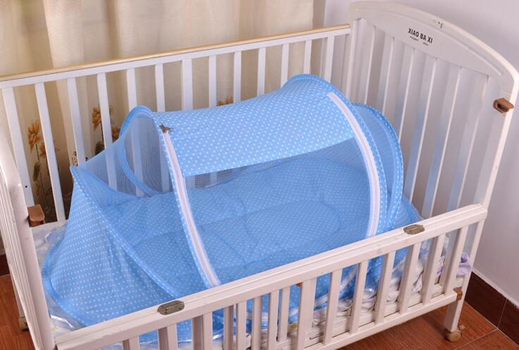New Baby Crib 0-3 anni Baby Bedding Zanzariera portatile pieghevole culla Culla Zanzariera in cotone Sleep Travel Bed Set