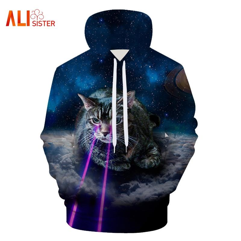 ccf6b715ebd2 2019 2018 New Fashion 3D Hoodies Funny Harajuku Style Cat Dog Animals Print  Men Women Hooded Sweatshirt Couple Pullovers From Matilian