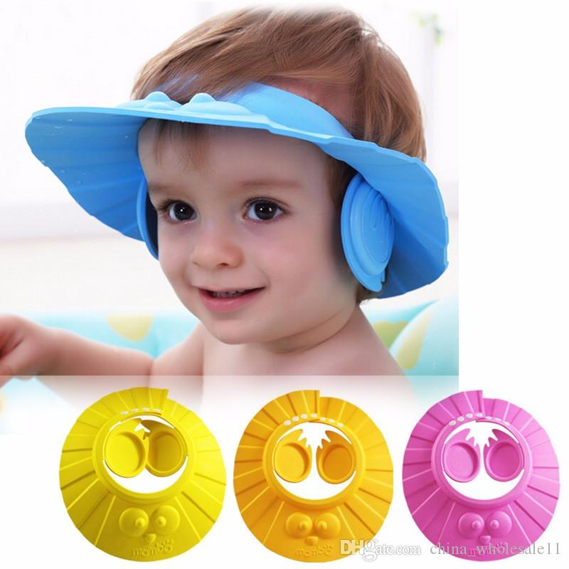 Mix and Match Welcome Free shipping ACI-228 Adjustable Baby Kids Shampoo Cap Children Girl Boy Wash Hair Shield