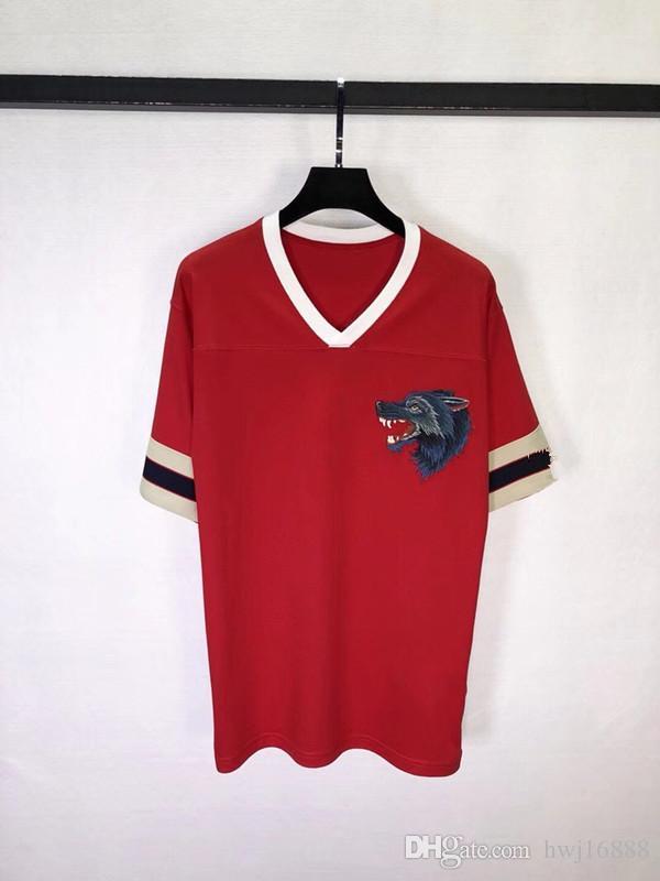 cf73f188478 latest new casual V-neck red letters mens t shirts top quality fashion  short sleeve men tshirt men s tee shirts tops men T-shirt