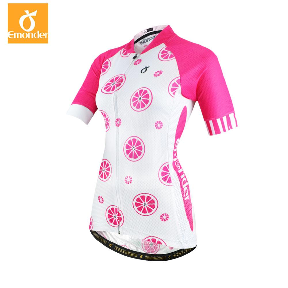 EMONDER New Arrival Womens Cycling Jersey Bike Shirts Summer High ... 0c28b90c6