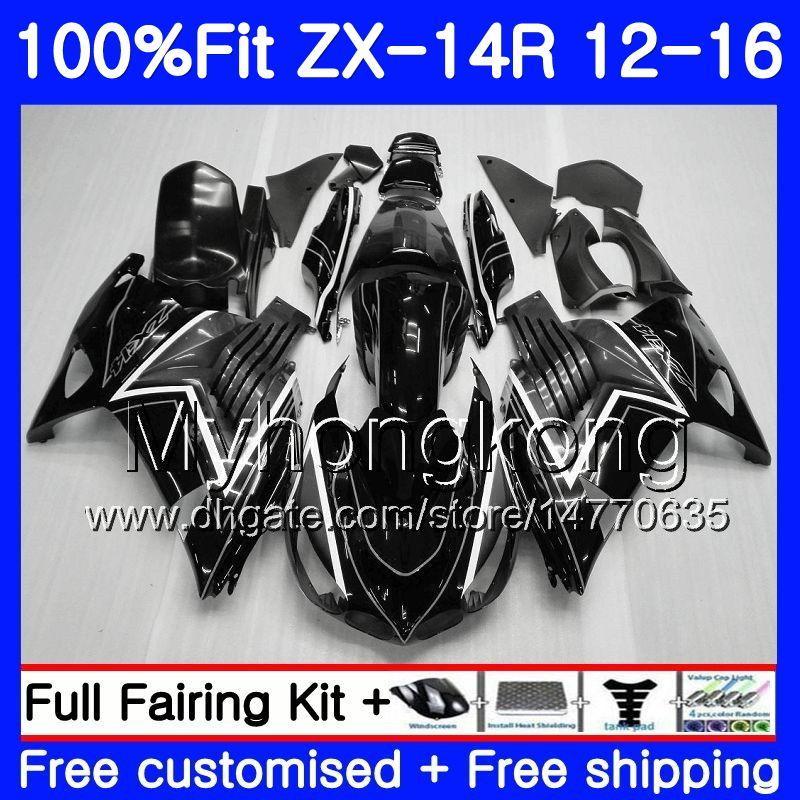 Injection For Kawasaki Black Grey Hot Ninja Zx 14r Zzr 1400 Zx14r 12 13 14 15 16 225hm15 Zzr1400 Zx 14r 2012 2013 2014 2015 2016 Fairing