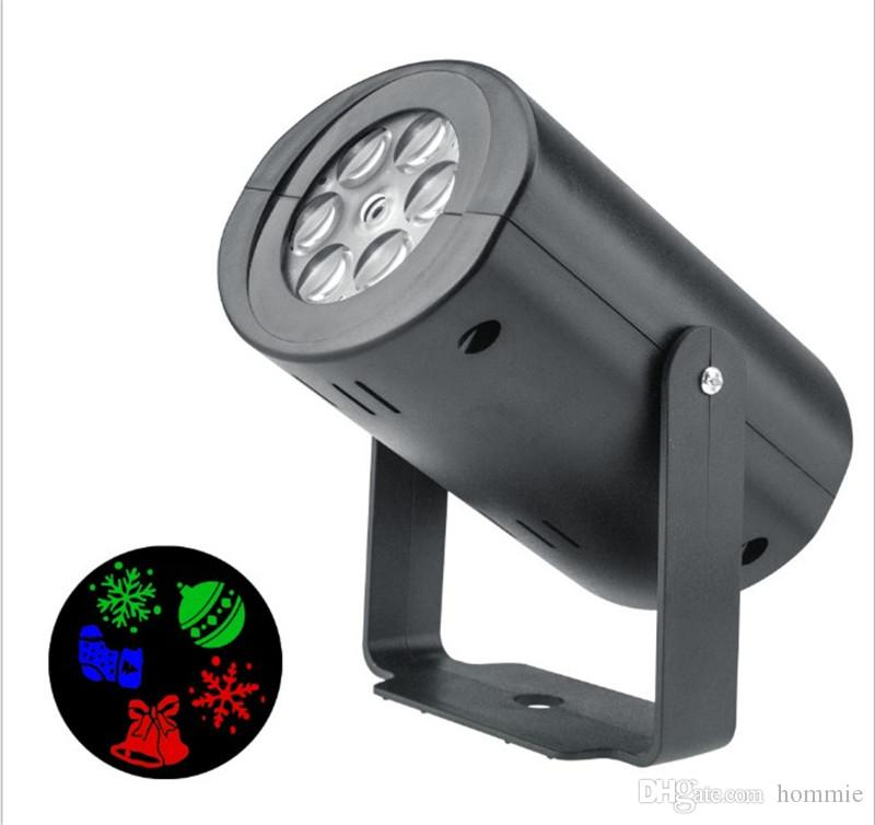 12 Patterns Snowflake Projector Lights Garden Decorative Lamp
