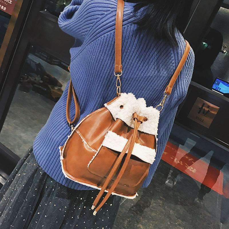 86f74a37dc5c New Designer Women Leather Backpack High Quality Girl School Bag Laptop  Female Fashion Winter Luxury Faux Fur Backpack Backpack Purse Dog Backpack  From ...
