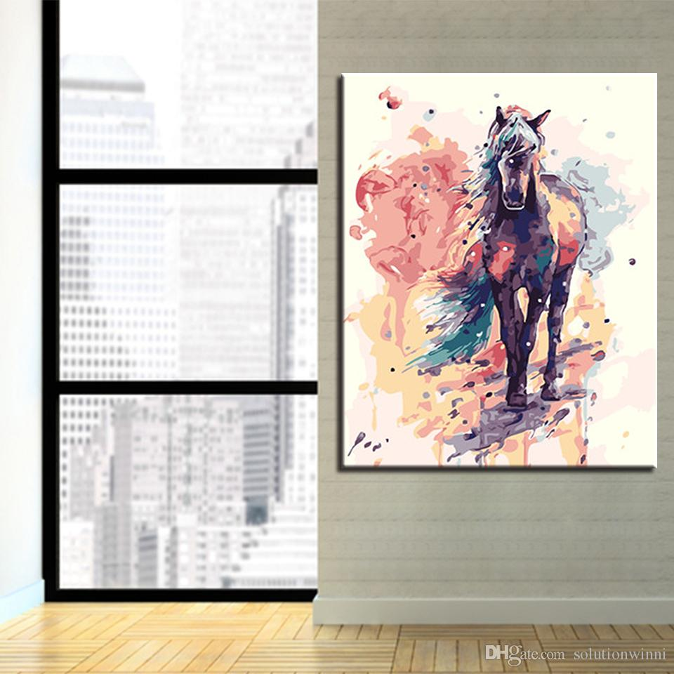 Digital Painting By Numbers DIY Frame Wall Art Decor Poster Color ...