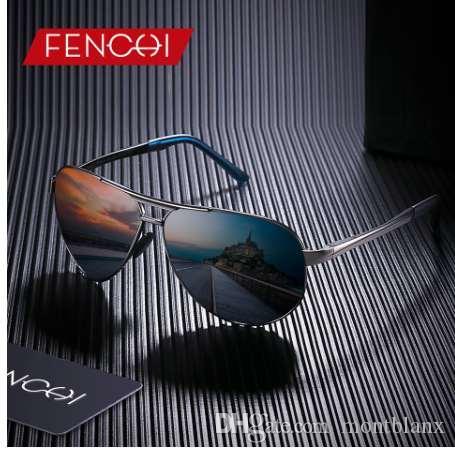 fc275aacc3 FENCHI Polarized Sunglasses Men Women Brand Designer Fashion Metal ...