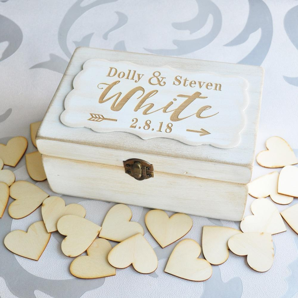 2018 custom wedding box guest book alternative personalized wooden box rustic wedding keepsake wedding bridal shower anniv from livegold