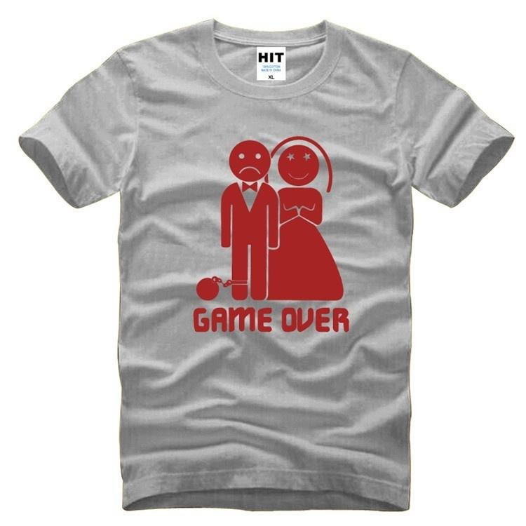 Game Over Marriage Ball And Chain Funny Wedding Gift Mens Men T
