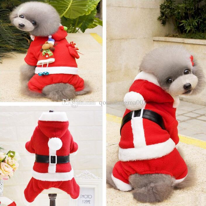 5 Size dog costume Christmas dog transformed clothes santa suit Euramerican pet dog warm Christmas clothes pet apparel decoration