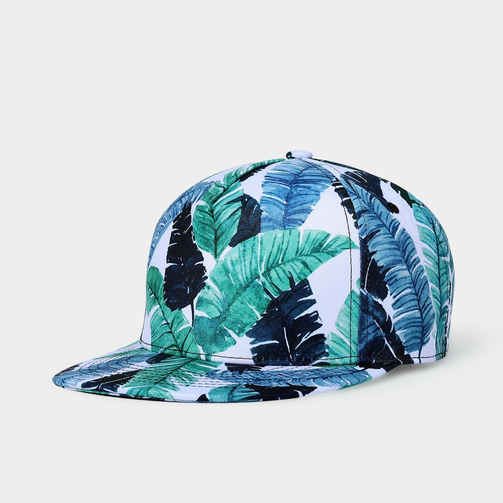 300dc37e1f0 Green Plants Printing Baseball Cap Casquette Men Women Sport Hip Hop Snapback  Caps Spring Summer Autumn Hats Starter Cap Big Hats From Shicool