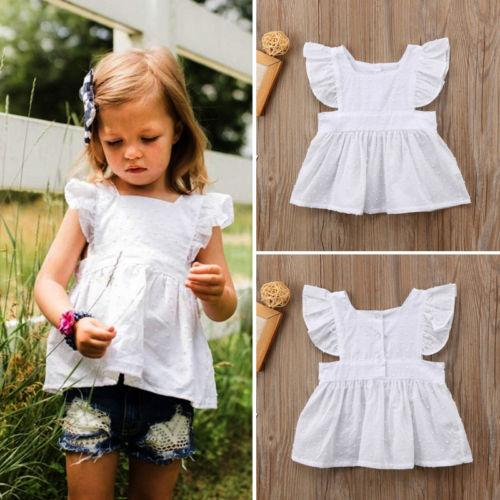 cf1e6f7a8a Newborn Kids Baby Girls Princess Ruffle Lace Tops Shirts Blouses Clothes  Summer Baby Girls Clothing Boys Oxford Shirts Cheap Youth T Shirts From  Jamani3
