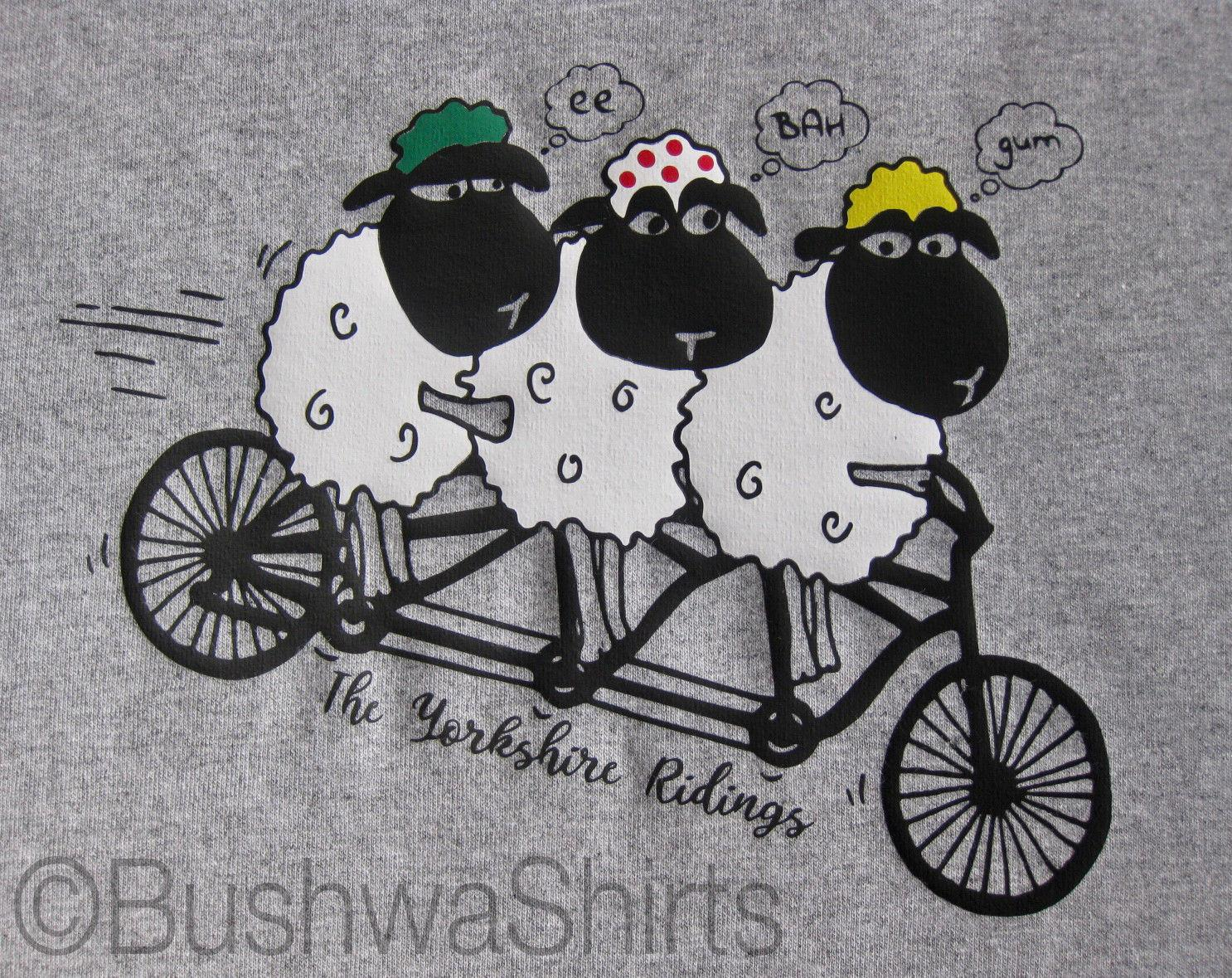 add5c38f8 Le Tour De Yorkshire / Sheep 'ee Bah Gum' Inspired T Shirt Tee Top Mens  Funny Tops Tee New Unisex Funny Free Shipping