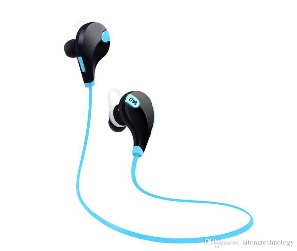 Les nouveaux sports QY7 sans fil Bluetooth 4.1 casque EDR casque écouteurs stéréo avec écouteurs d'appel MIC Pour Iphone X 8 7 6 Samsung