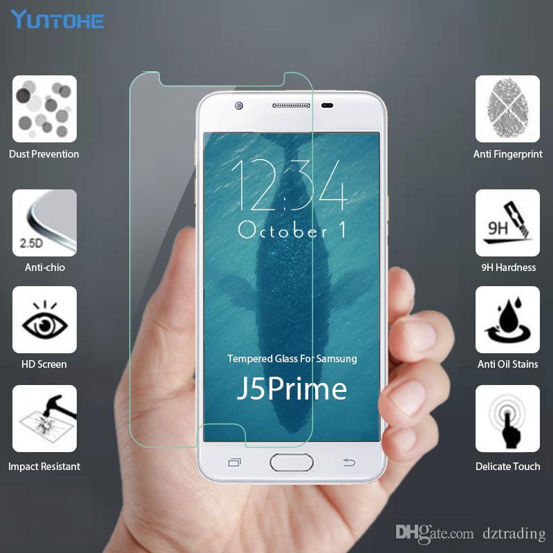 واقي شاشة صلب مقاوم للكسر بحماية زجاجية لجالكسي J1 ميني J2 بريميوم J5 برايم لاجهزة سامسونج جالاكسي J5 J7 Pro Note 3 4 5 S3 S4 بدون حزمة