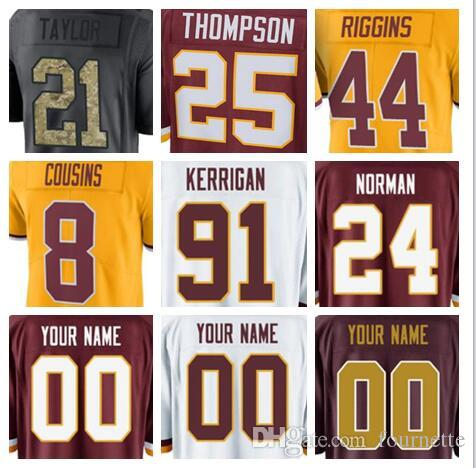 best cheap 84d7a 686fc Washington Kirk Cousins Redskins jersey custom Josh Norman Ryan Kerrigan  authentic sports youth kids american football jerseys women cheap