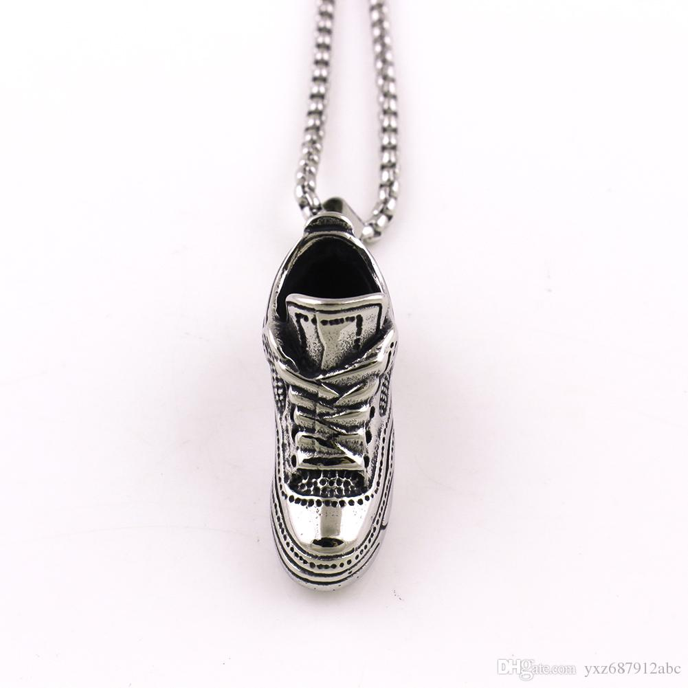 New Arrival Sport Shoe Shape Pendant Charm Necklace Made Of Stainless Steel fashion jewelry Drop Shipping