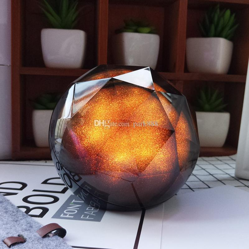 Color ball Speaker Creative portable Crystal Magic Ball Subwoofer TF Card Bluetooth wireless mini speaker universal