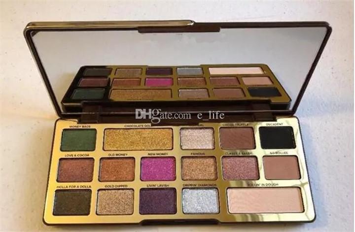 Yeni Makyaj Paleti !! Göz Farı Altın 16 renkler Çikolata Göz Farı mat Işıltılı natutal palet DHL kargo