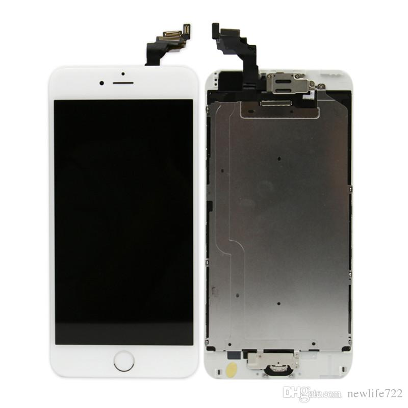 Pre-Assembled For Iphone 6 6 plus Touch Screen Digitizer LCD Display With Front Camera Home Button Screen Replacement Wholesale