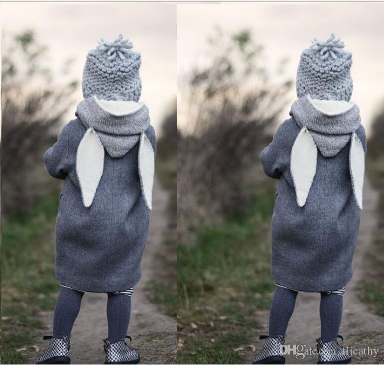 3402e520718c Baby Girls Clothing Children Autumn Jacket Kids Hooded Rabbit Ear ...