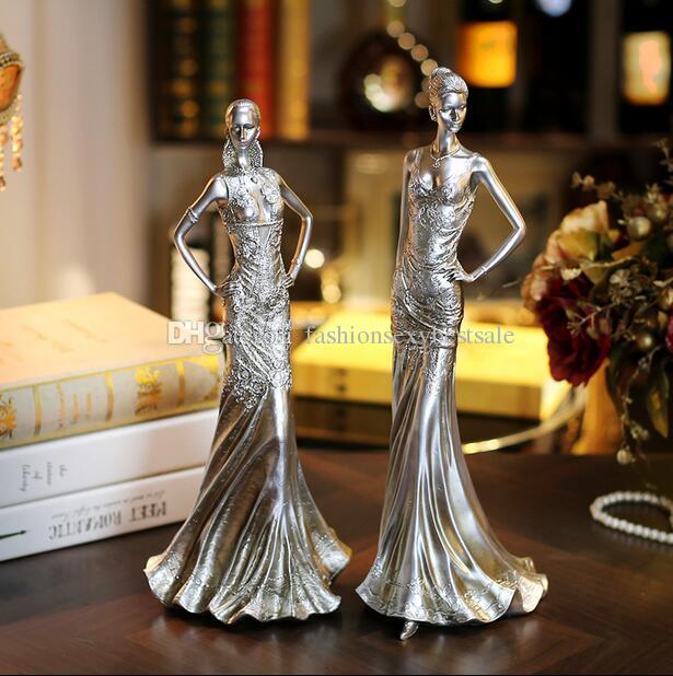 4style женщин творческий мебель для дома смолы ремесла свадебный магазин одежды Украшения Украшения женский манекен 1шт C547