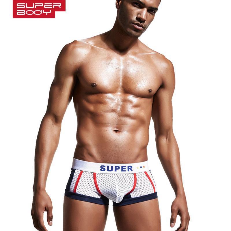 3df773e21 Compre Homens Boxers De Baixo Cintura De Algodão Homens Cueca Impressão  Estrela Homem Confortável Cueca Boxer Masculina Pênis Bolsa Calzoncillos De  Tbwish