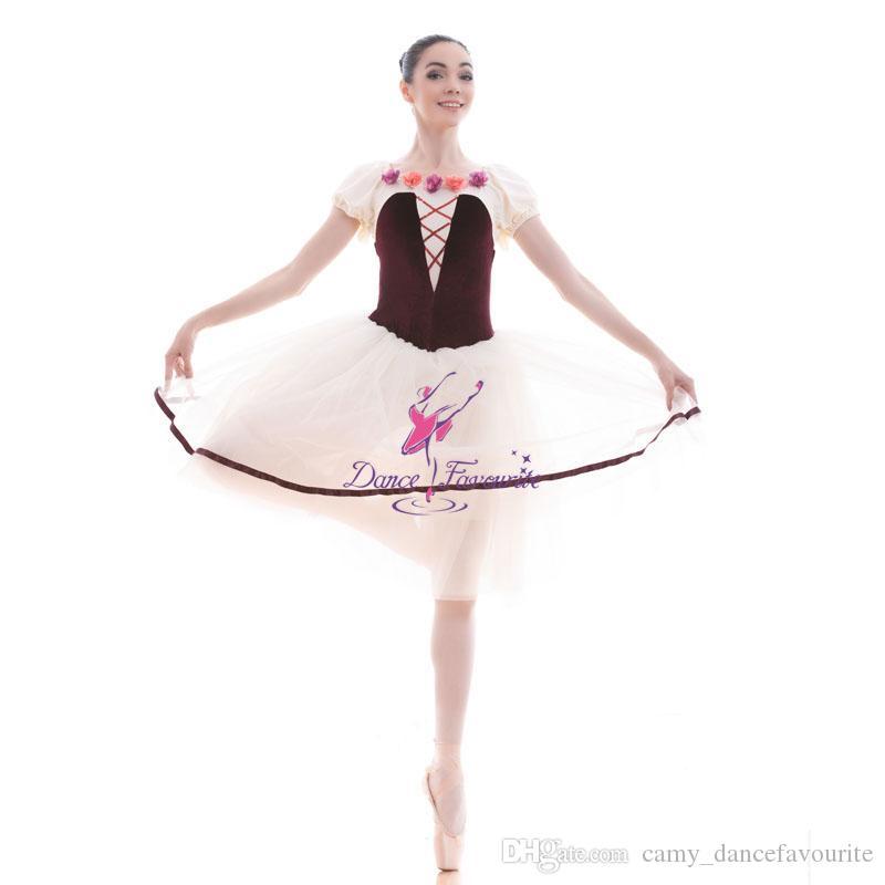 Cheap Wholesale Girls Short Sleeve Long Ballet Dance Tutu with 4 Layers of  Soft Tulle Tutu Skirt Ballerina Costume 18442 cf8916166
