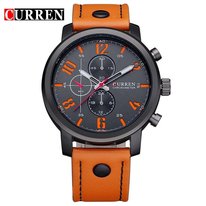 Quartz Watch CURREN Men S Sport Watches Top Brand Luxury Men Watches  Fashion Man Wristwatches Leather Strap Relogio Masculino Buy Online Watches  Watches Buy ... f00f640ed26e2