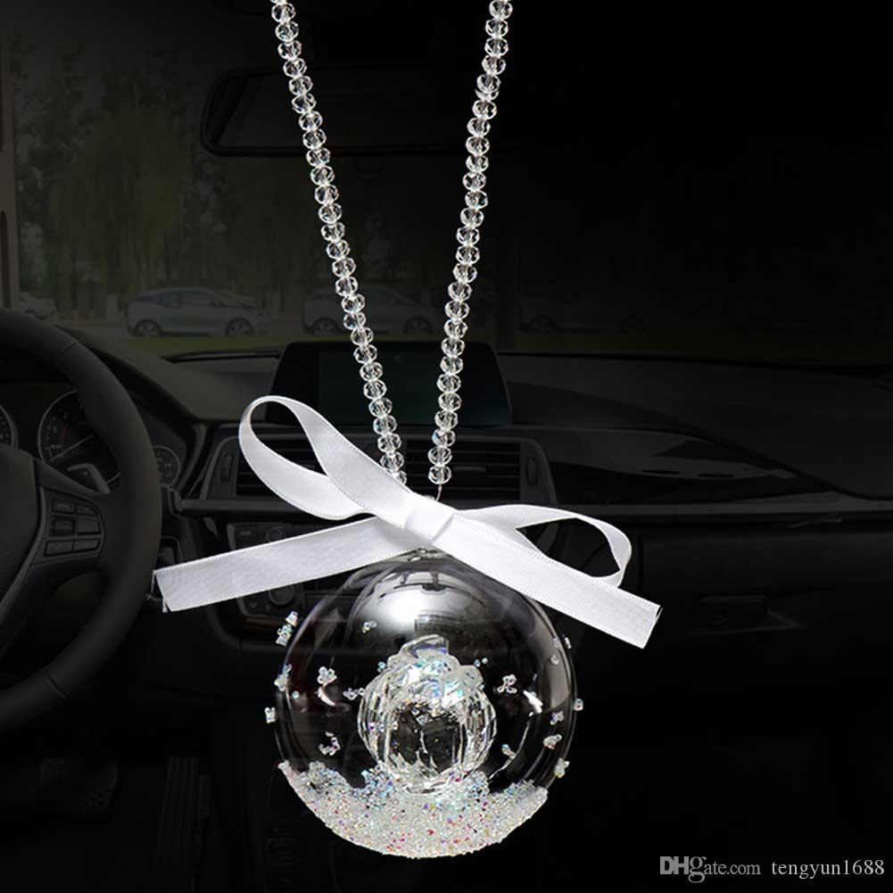 ornament in chimes mirror decor rear charm hanging wind rearview item pendant colorful car white view with decoration tassel accessories flower