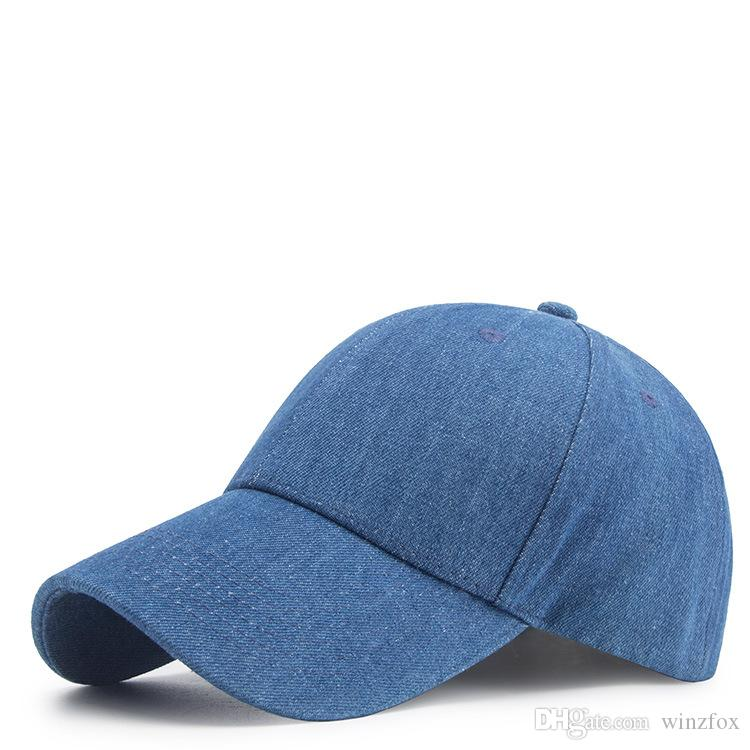 Cheap Washed Snapback Plain Denim Baseball Caps Solid Colour Ballcap Blank  Outdoor Casual Hats Unisex Man Woman Chapeau 8f802a09cfe0