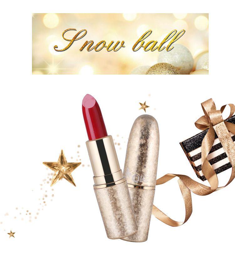 2018 neue hochwertige Lippen Make-up QIC Weihnachten Schneeflocke Gold Vergoldung Matte Lippenstift bilden 6 Farben Lippenstifte DHL-freies Verschiffen