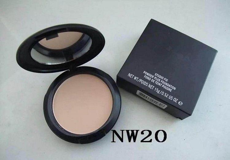 Hot Sale matte Foundation Brand Make-up Studio Fix Powder Cake Easy to Wear Face Powder Blot Pressed Powder Sun Block Foundation 15g NW