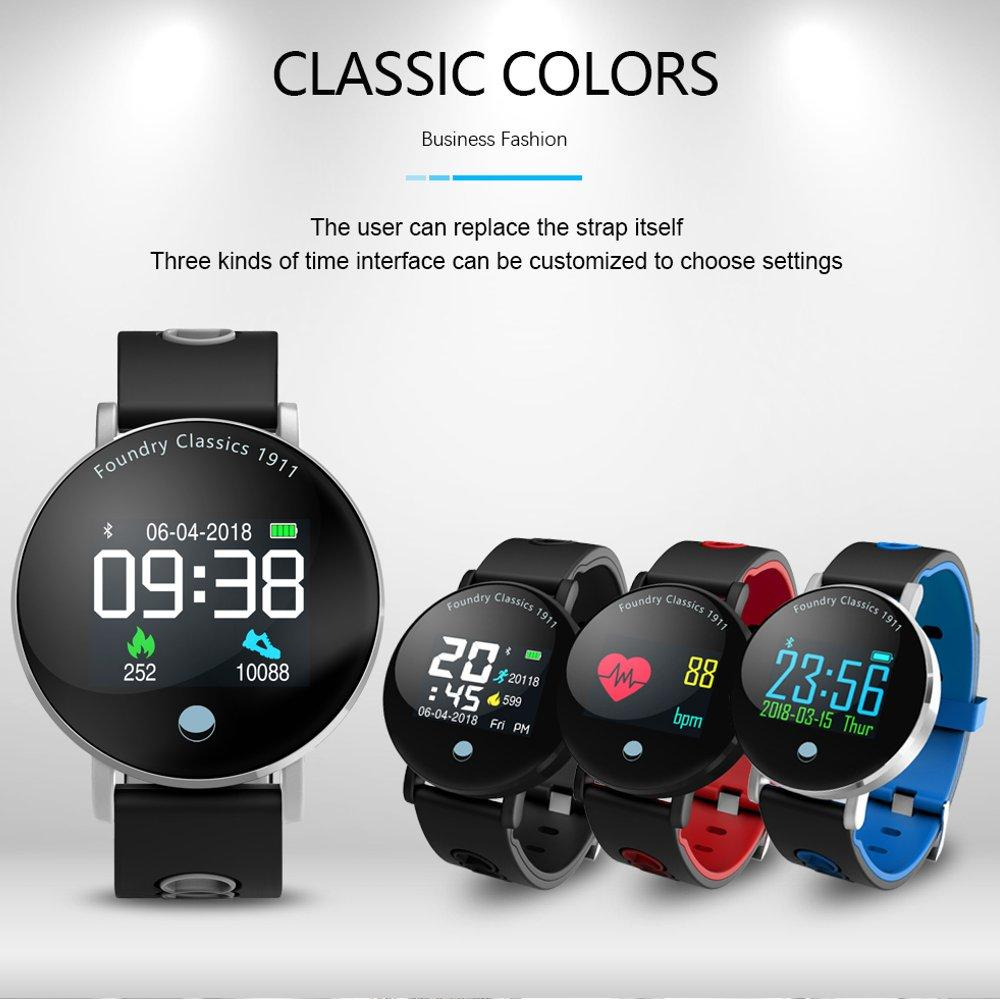Bakeey Y6 Plus Smartwatch Blood Pressure Heart Rate Stopwatch Sport Mode Smart Watch Men Women Round Big Display Bracelet